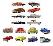 Decoupage Paper Pack (10sheets A4 / 20cm x 30cm ) Classic Cars America Golden Era Sixties FLONZ Vintage Paper
