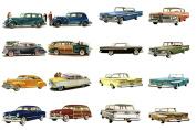 Decoupage Paper Pack (10sheets A4 / 20cm x 30cm ) Classic Cars America Golden Era FLONZ Vintage Paper