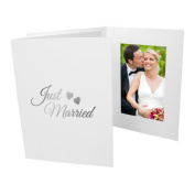 Just Married 4x6 Vertical Cardboard Event Photo Folders