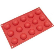 15 Cavity Mini Half ball Sphere Silicone Cake Baking Pan Muffin Cups Chocolate Ice Cube Tray handmade Soap DIY Mould