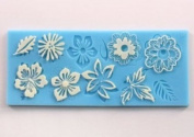 Silicone Flower leaf Embossing Lace Fondant Mould Cake Decoration Mould Polymer Clay Resin Moulds