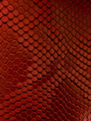 Red Faux Viper Sopythana Snake Skin Vinyl Fabric - Sold By The Yard - 130cm