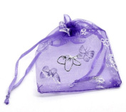100 Pc Butterfly Organza Gift Bag Pouches, Wedding Party
