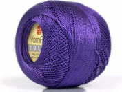 Purple - Yarn Art Tulip Size 10 Microfiber Thread - 50 Gramme