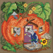 Mouse House Beaded Counted Halloween Cross Stitch Kit Mill Hill MH141625 Buttons & Beads 2016 Autumn