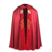 BLESSUME Cope Catholic Church Bishop Vestment with stole Birds IHS Embroidery Cape