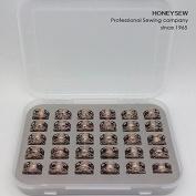 HONEYSEW 30PCS BOBBINS WITH BOX 0060265000QW - BERNINA bobbin 0060265000 180 185 190 200 435 450 640 730E 1000 1630