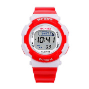 GOTD Kids Children Girls Boys Digital LED Sports Watch Kids Alarm Date Waterproof Watch Gift