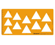 Triangle Shapes Drafting And Design Template Stencil Symbols Technical Drawing Scale