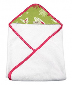My Blankee Newborn Hooded Towel, Lime Green Butterfly