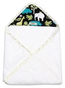 My Blankee Newborn Hooded Baby Boy Towel, Lagoon Zoology