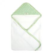 My Blankee Newborn Hooded Minky Dot Towel, Sage Green/White