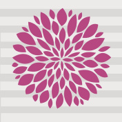 Glenna Jean Millie Flower Wall Decal, Pink