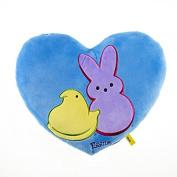 Peeps Heart Shaped Pillow - Blue
