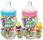 BaBa Baby Bottle Candy Display, 16 Assorted 11cm Candy Filled Baby Bottles