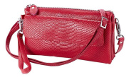[Mother's Day Gifts for Women] Soft Leather Crocodile Clutch Organiser Purse Shoulder Crossbody Wrislet Bag Satchel Purse Handbag for Women with Shoulder Strap