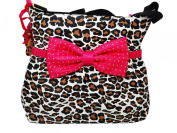 Betsey Johnson Cat's Meow Bow Tie Nappy Bag Purse Shoulder Handbag
