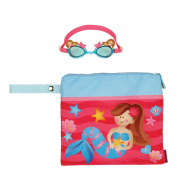 Stephen Joseph Girls Mermaid Wet Dry Bag and Swim Goggles
