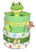 Sunshine Gift Baskets - Big Froggy - Pampers Swaddlers Nappy Cake Gift Set