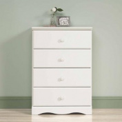 Sauder Storybook 4-Drawer Chest, Soft White, Drawers with Metal Runners and Safety Stops