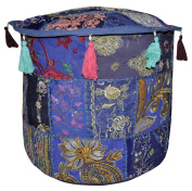Decorative Entrance Embroidered Ottoman Cover 18 X 46cm X 36cm
