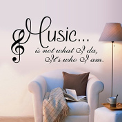 English Letters Characters Music Wall Decal Home Sticker PVC Murals Vinyl Paper House Decoration WallPaper Living Room Bedroom Kitchen Art Picture DIY for Children Teen Senior Adult Nursery Baby