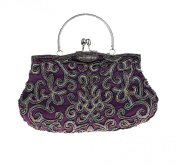 Embroidered Seed-Beaded Evening Purse Handbag Purse for Women