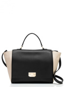 Kate Spade Magnolia Park Large Laurel Shoulder Bag Black Ostrich