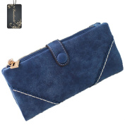 Donalworld® Women's Soft PU Leather Retro Clutch Wallets Long Card Holder Purse Wallet