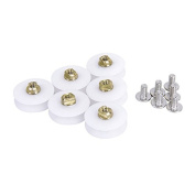 WINOMO 6pcs Shower Door Rollers with Screws 22.5mm Wheel Diameter - White