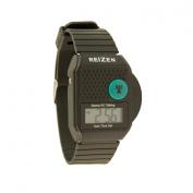 Square Digital Radio Controlled Talking Atomic Watch - Black