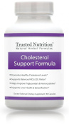 Cholesterol Support Formula ?No Questions Asked. Contains Red Yeast Rice, Policosanal, Phytosterol, Guggulsterone, Sytrinol, CoQ10, Pantesin, Milk Thistle. Lowers Cholesterol