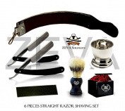Shave Ready - 6 Piece Set Shaving Straight Razor