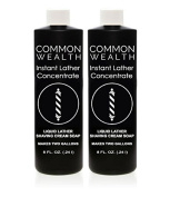 Common Wealth Instant Liquid Hot Lather Machine Concentrate Barber Shaving Cream Soap 2 240ml Bottles