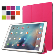 iPad Pro 9.7 Leather Case, Hwota Smart Cover with Auto Sleep / Wake Feature Ultra Flip Slim Lightweight Stand Shell Leather Case for iPad Pro 25cm 2016