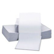 Universal Two-Part Carbonless Paper, 6.8kg, 9-1/2 x 11, Perforated, White