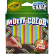 Crayola Multi Colour Washable Sidewalk Chalk 5/Pkg