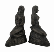 Bronze Finish Lonely Mermaid Cast Iron Bookends