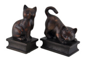Antiqued Bronze Finish Playful Cat Bookends