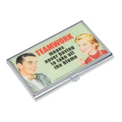 Teamwork means never having to take all the blame Business Card ID Case