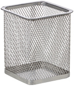 Uxcell Metal Mesh Rectangle Shaped Pen-Pencil Holder Container, Silver Grey
