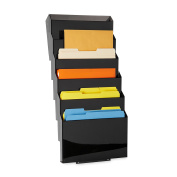 Rubbermaid Letter 7-pocket Smoke Classic Hot File Wall File System