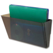deflect-o Single Compartment Legal Size Stackable Wall File, Smoke