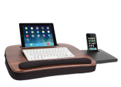Sofia + Sam Multi Tasking Memory Foam Lap Desk (Wood Top) | Supports Laptops Up To 38cm