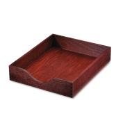 Hardwood Letter Stackable Desk Tray, Mahogany