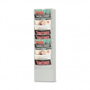 Buddy Products Literature Racks Eclipse 11-Pocket Curved Steel Literature Rack in Platinum 0862-32