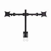 NavePoint Articulating Dual LCD Monitor Mount Stand C-Clamp Holds 2 Monitors Up To 70cm Black