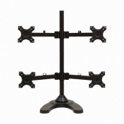 NavePoint Quad LCD Monitor Desk Stand/Mount Free Standing Adjustable 4 Screens upto 60cm Black
