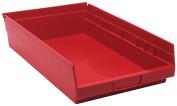 QUANTUM STORAGE SYSTEMS QSB110RD Shelf Bin, 60cm . L, 10cm . H, Red