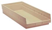 QUANTUM STORAGE SYSTEMS QSB116IV Shelf Bin, 70cm . L, 10cm . H, Ivory